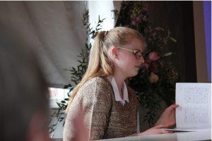 Plattdeutsch Vorlesewettbewerb im Möllner Stadthauptmannshof: Platzierung 5-7 Klassen: 1. Platz Gymnasium Wentorf Lena Ludewig aus Wentorf
